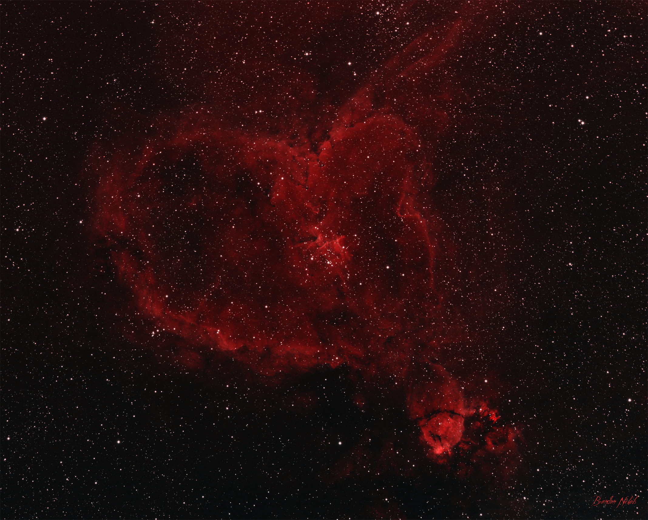Heart Nebula - Ha And SII (Total Integration Time 280 Min)